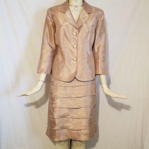Dresses & Skirts - 2pc Gold Skirt Suit